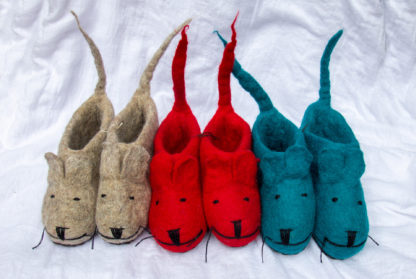 felt slippers at Rainbow Road Trading, Salt Spring Island